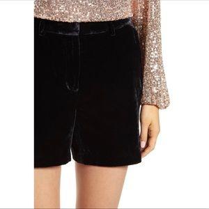 Gianni Bini Shorts - Gianni Bini Velvet High Waisted Shorts